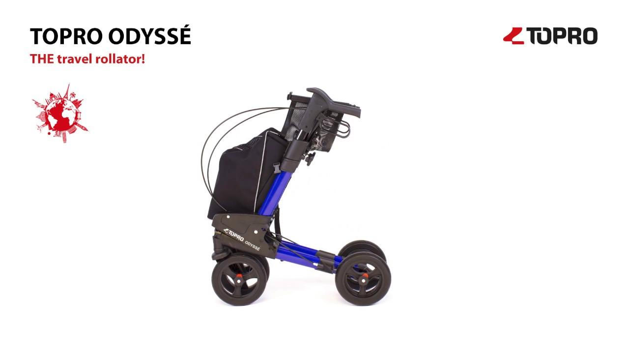 Nuovo deambulatore ODYSSE' chiudibile da viaggio, con ...