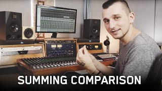 Analog vs Digital Summing Comparison (ft. Satori Monitoring Controller & Tegeler Tube Summing Mixer)