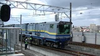 東葉高速鉄道線飯山満駅【TR03】中線に工事車両
