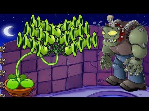 Plants vs Zombies Battlez Minigames Zombotany 2 vs 999 ThreePea Vs Dr Zomboss