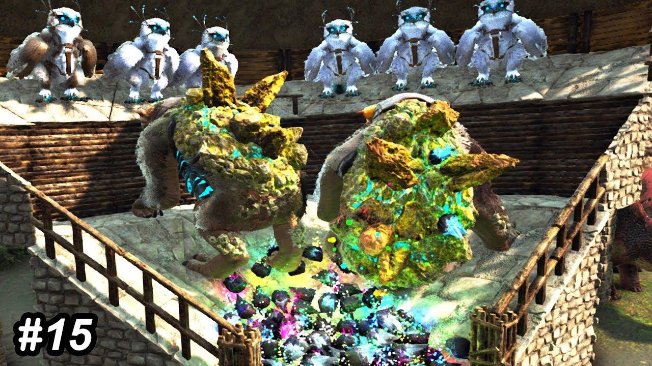 💎Ark GACHA CRYSTAL FARM BUILD!! Ark Survival Evolved Extinction Gameplay  Ep 15