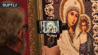 В Российском духовно культурном центре в Париже открылась выставка шитой иконы