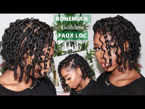 new-bohemian-goddess-faux-loc-bob-|-crochet-method---no-rubber-band-|-only-half-pack-of-hair!