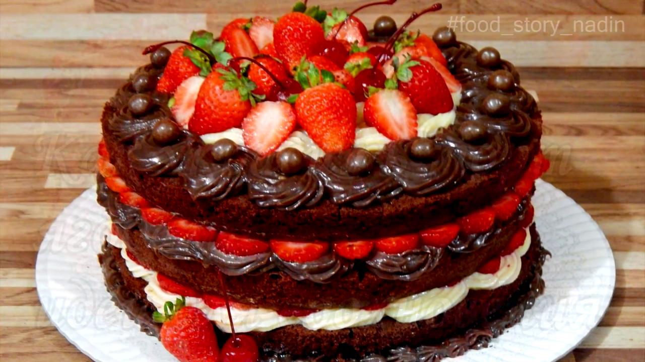 Как украсить торт ягодами идеи для вдохновения - YouTube