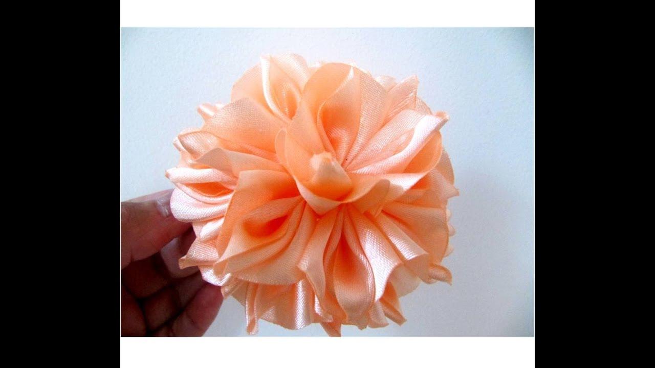 Mo os para el cabello flores de fantas a en telas paso a - Manualidades en tela paso a paso ...