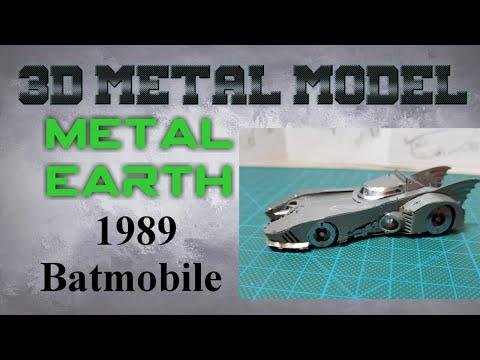 Metal Earth Build -1989 Batmobile (time lapse)