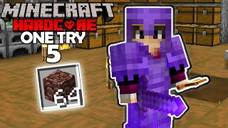 Mining A Stack of Ancient Debris! (Minecraft One Try #5)