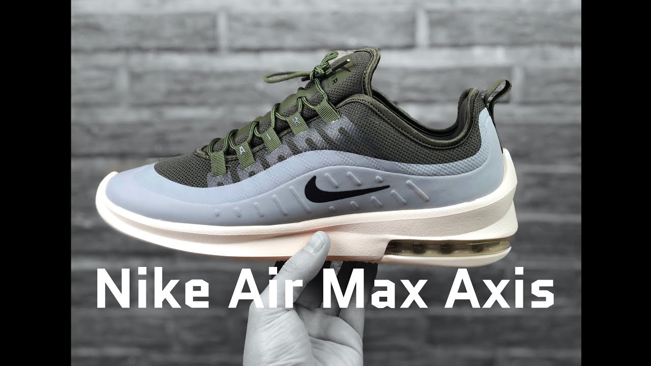 5a21ce6af7 Nike Air Max Axis 'cargo khaki/black-medium olive' | UNBOXING & ON FEET |  fashion shoes | 2019