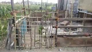 2000 ரூபாய் முதலீட்டில் எளிய முறையில்  ஆட்டுக்கொட்டகை - Low cost goat shed