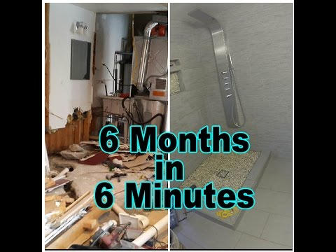 Bathroom Renovation In 6 Minutes - Renovation and Home DIY Series Pt.2