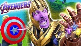 VERO THANOS CONTRO FALSO THANOS?! | Fortnite Avengers Endgame