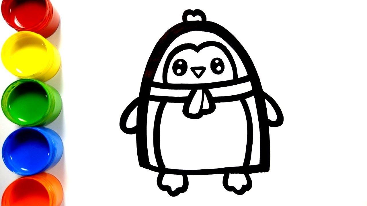 Cara Menggambar Dan Mewarnai Mainan Pinguin Menggambar Dan