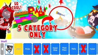 You Can Only Use 5 Category ONLY Build Challenge In Adopt Me!  (Roblox)