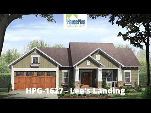 HPG-1627-1 1,627 SF, 3 Bed, 2 Bath Craftsman House Plan by House Plan Gallery