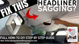 DIY HOW TO FIX CAR HEADLINING | Renault Scenic Sagging Headliner Repair