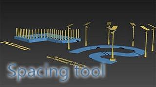 Spacing tool - копирование объектов вдоль пути (сплайна)