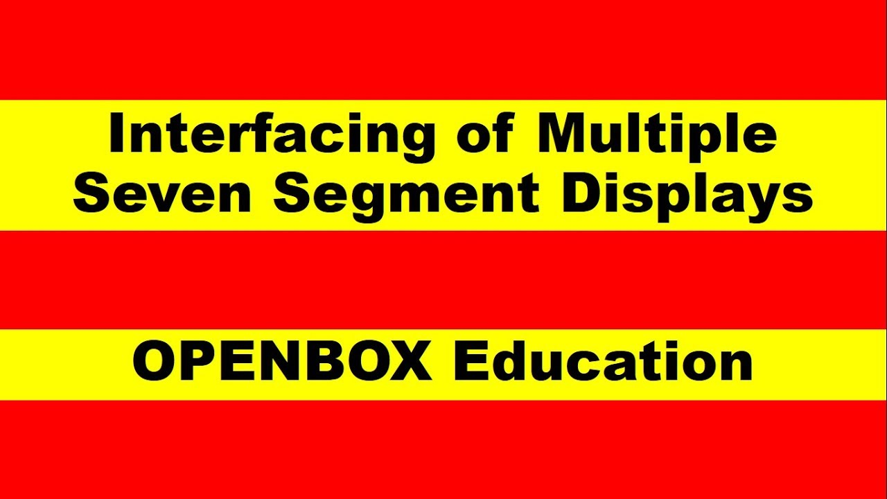 Interfacing of Multiple Seven Segment Display to 8086 through 8255 PPI