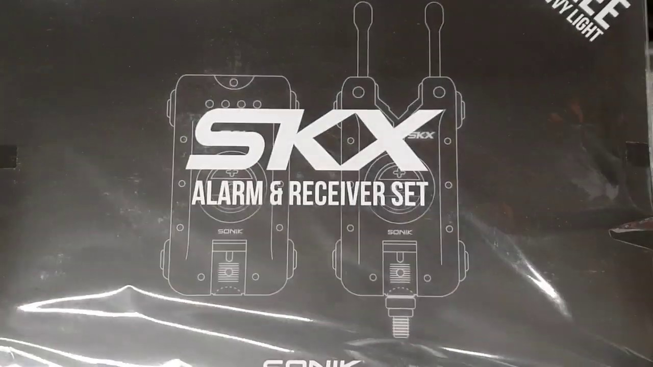 Sonik SKX Alarm 3 Rod Set and Receiver FREE Bivvy Light NEW Bite Alarm 3+1
