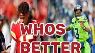 Best Quarterback In The NFL   Patrick Mahomes or Russell Wilson