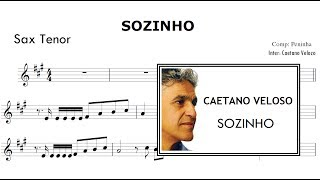 Sozinho - Caetano Veloso ( Partitura  Sax Tenor )