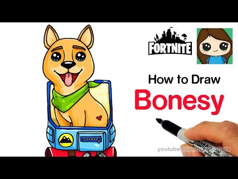 How To Draw Fortnite Pet Back Bling Bonesy The Dog Safe Videos