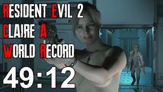Resident Evil 2 Remake - Claire A Speedrun World Record - 49:12