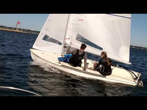 BH Tack Footwork Medium -Mal-Comes in early to heel boat to leewar -Newport 6kts (flat) 2017 10 04
