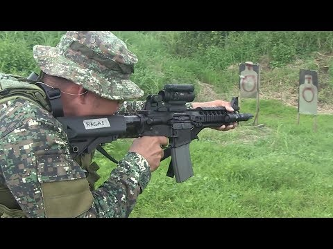 Philippine Marines and U.S. Reconnaissance Marines Conduct Bilateral Weapons Training