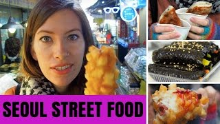 Korean Street Food in Seoul, Korea at Namdaemun Market (남대문시장)