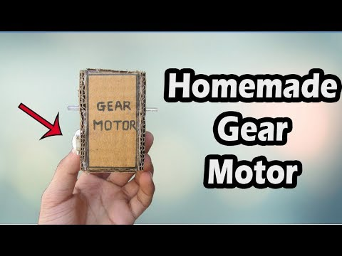 How To Make DC Gear Motor At Home | Technical Ninja