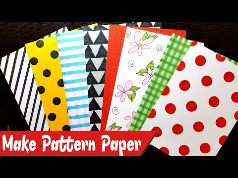 How to make Patterned Papers at Home | Create your own Pattern Papers | Scrapbook or Notebook Cover