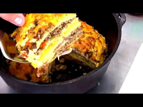 Easy Dutch Oven Quesadilla Pie With Mango And Sweet Corn - Easy Dutch Oven Recipe