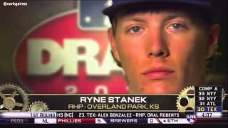 Ryne Stanek drafted by Tampa Bay Rays
