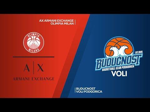 AX Armani Exchange Olimpia Milan - Buducnost VOLI Podgorica Highlights |  EuroLeague RS Round 16