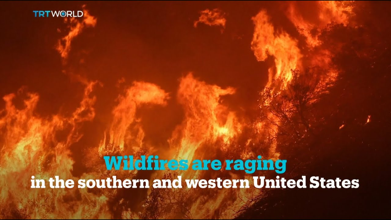 Scorching heat fuels #wildfires in the western & southern US - YouTube