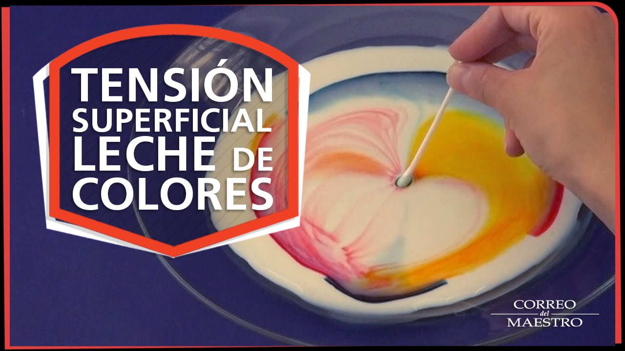 Tensión Superficial Leche De Colores Youtube