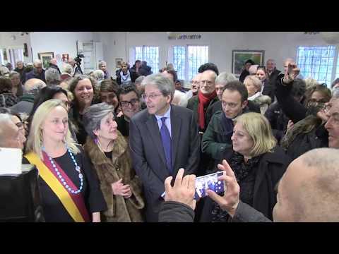 Gentiloni visita il Centro Anziani Sabotino dell'Associazione G. Perlasca