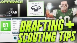 Madden 19 Franchise Scouting and Drafting Tips! How to Scout and Draft Offense!