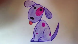 Учимся рисовать собачку Обучающее видео Просто рисовать draw a dog(Нарисуем милую собачку) Очень быстро и просто рисовать) Таким рисунком можно украсить открытку или подарит..., 2016-01-24T18:30:10.000Z)