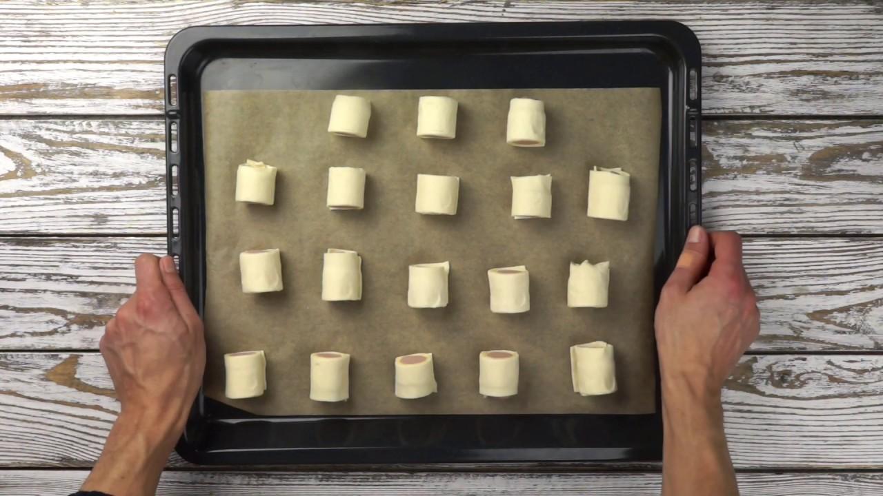 Сосиски в слоёном тесте с сыром – ВКУСНЫЕ СНЕКИ за 20 минут