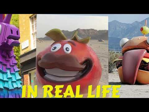 Fortnite Stuff Found In Real Life Tomato,burger And Llama [Season 5]