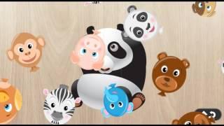 Мультик голоса животных для детей видео игры собирать пазлы