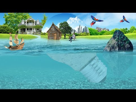 How to design Sea wave and under water effect 2019