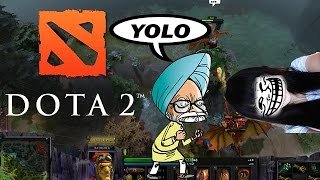 DOTA 2 - DOTA 2 - Funny Moments Montage - Meet With The Dude From India! (Crazy Indian Guy #1)