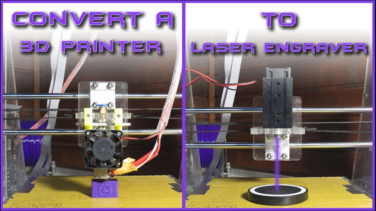 Convert a 3D PRINTER to LASER ENGRAVER | Under 40$ : 5 Steps (with