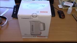 обзор и тест чайника BOSCH TWK3A011, 2400Вт, белый