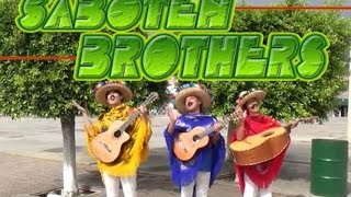 Saboten Brothers in Mexico for PR Japan on Oct.2015. Singin' at pla...