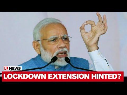 PM Modi Hints On Lockdown Extension