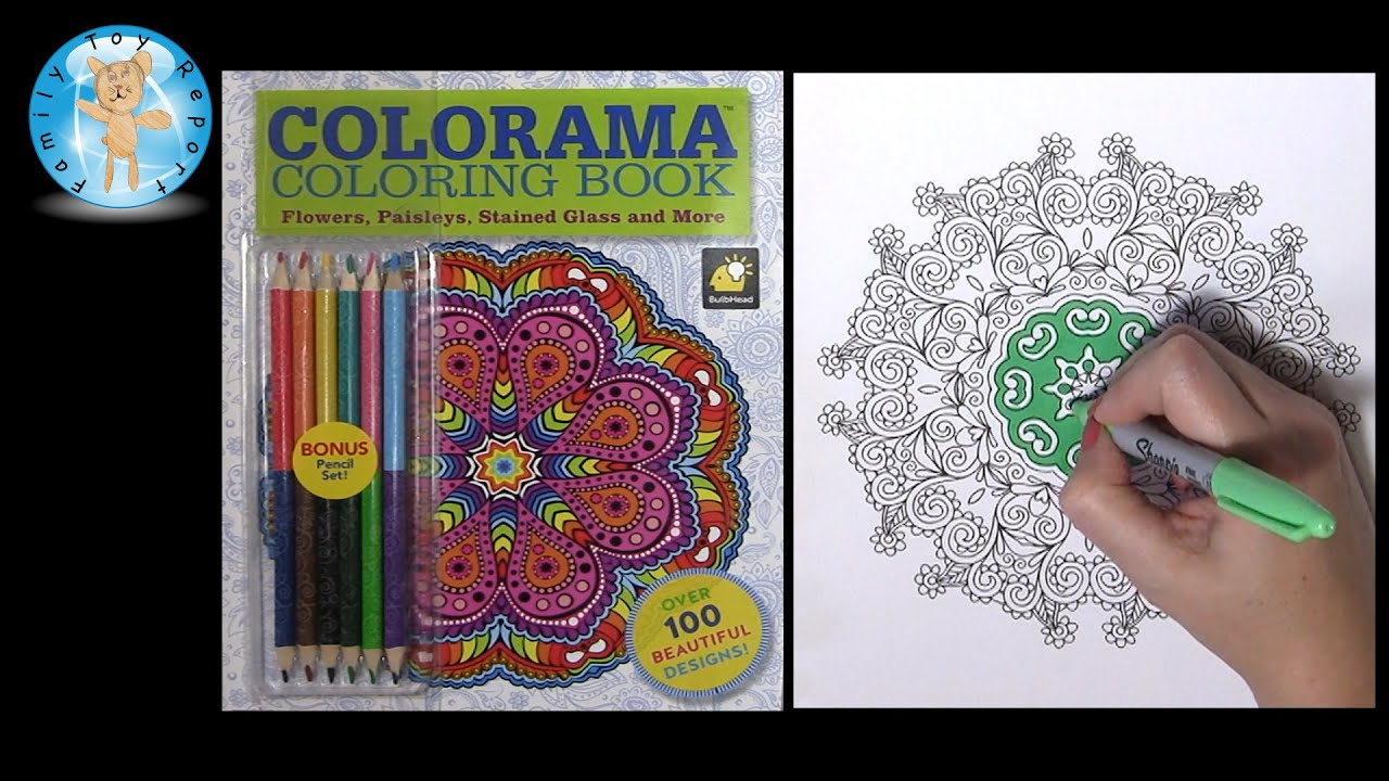 Colorama Coloring Book As Seen On TV Flowers Paisleys Stained Glass And More
