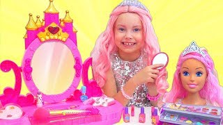 Alice Became A Barbie Doll And Going To A Barbie Party